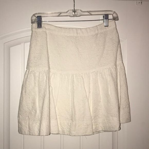 J. Crew Dresses & Skirts - JCrew White Matelasse Drop Waist Skirt, Size 2
